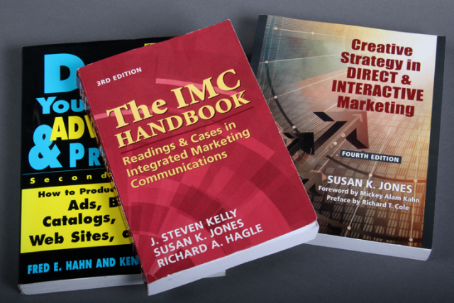 IMC Handbook – Readings & Cases in Integrated Marketing Communications, plus two other books