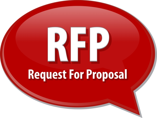 Request for proposal in boldface red text